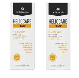 お得な2本セット [Heliocare] ヘリオケア 360 Fluid Cream SPF50+ 50ml 日焼け止め