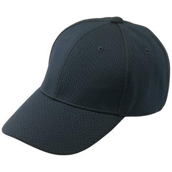 【Mizuno ミズノ】【キャップ 帽子】野球 ベースボールキャップ オールメッシュ六方型 52BA23109 ブラック(庇裏:グレー)