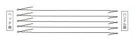 【送料無料】【NISHI ニシスポーツ】陸上競技 ハンマーワイヤー (5本組 999mm) NF353G [200406]