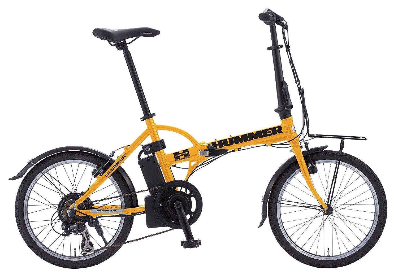 【送料無料】 HUMMER ハマー 20インチ 電動アシスト自転車 おりたたみ 折り畳み自転車 2色 黒/黄色 ブラック:AL-FDB207EBK イエロー:AL-FDB207EYE