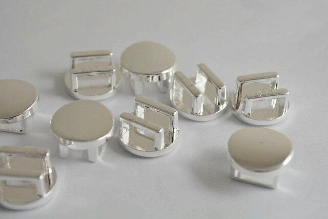 アクセサリーパーツ アクセサリーパーツ 帯留め 丸 古代銀 15mm 5個セット
