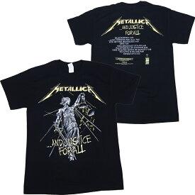メタリカ・METALLICA・AND JUSTICE FOR ALL TRACKS BLACK Tシャツ メタリカTシャツ オフィシャル ロックTシャツ【RCP】【コンビニ受取対応商品】