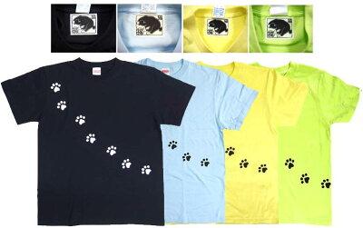 福猫シリーズ/ネコの足跡Tシャツユニセックス半袖【RCP】