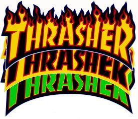 スラッシャー THRASHER FLAME LOGO STICKER ミディアム ステッカー 正規品【RCP】【コンビニ受取対応商品】