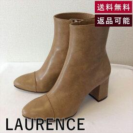 【中古】ローレンス LAURENCE ブーツ ショート 新品 ベージュ C1224Y003-D0117