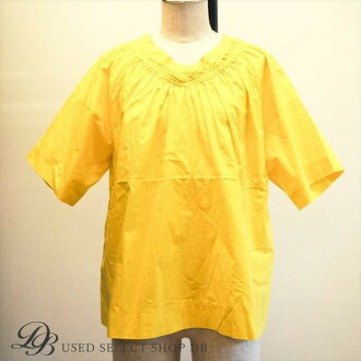 MARNI Maruni blouse yellow | in the spring and summer in the spring and summer The cool simple colorful three-dimensional frill feminine which FOMA Luke dual office company work has a cute conducts a business clearly at just tops