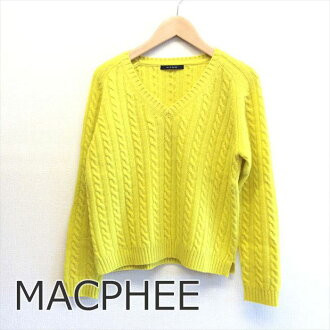MACPHEE McAfee knit yellow yellow brand old clothes DB in the fall and winter