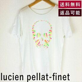 【中古】ルシアンペラフィネ lucien pellat-finet Tシャツ スカルプリント 蛍光 サイズM D0713Y004-D0902