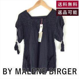 【中古】バイ マレーネビルガー BY MALENE?BIRGER ブラウス タッセル 黒 ブラウス E0226A005-E0315