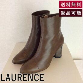 【中古】ロランス LAURENCE ブーツ キャメル ミドル丈 メタルヒール E0914Y008-E0928