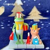 新作コポークリスマスのお買い物クリスマスcopeauコポーシリーズコポタロウコポたんかえるカエル雑貨置き物オブジェフィギュア置物小物ガーデンミニチュアDRAWERPLUSドロワープラスどろわーぷらすダイカイ【72465】