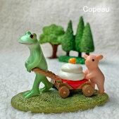 新作コポーカエルとミニブタの鏡餅お届けですcopeauコポーシリーズコポタロウコポたんかえるカエルくまクマくまたん雑貨置き物オブジェフィギュア置物小物ガーデンミニチュアDRAWERPLUSドロワープラスどろわーぷらすダイカイ【72480】