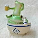 新作コポー日本酒カエルcopeauコポーシリーズコポタロウコポたんかえるカエルくまクマくまたん雑貨置き物オブジェフィギュア置物小物ガーデンミニチュアDRAWERPLUSドロワープラスどろわーぷらすダイカイ【72495】