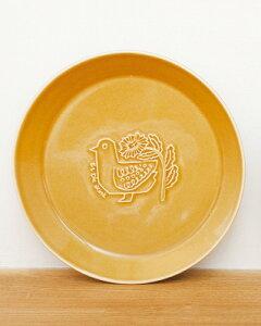 【51251】ユール 美濃焼 プレートSサイズ plate 鳥の柄 イエロー 食器 皿 北欧風