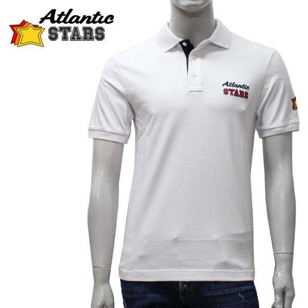 【スーパーセール】【2017SS】アトランティックスターズロゴ刺繍 ポロシャツ【ホワイト】U01 100 BIANCO/Atlantic STARS/m-tops