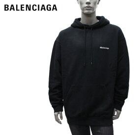 バレンシアガ BALENCIAGA ロゴ刺しゅう オーバーサイズ プルオーバーパーカー【ブラック】570811 TJV85 1070/【2021SS】m-tops