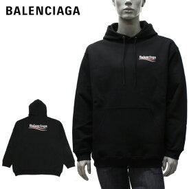 バレンシアガ BALENCIAGA ロゴプリント プルオーバーパーカー【ブラック】600583 TIV53 1070/【2021SS】m-tops
