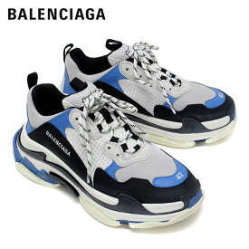 【2019-20AW】バレンシアガ TRIPLE S トレーナー スニーカー【ブラック×ブルー×ホワイト】536737 W09OH 1007/BALENCIAGA/m-shoes
