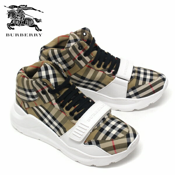 【2019SS】バーバリー ヴィンテージチェック ハイカットスニーカー【ANTIQUE YELLOW/OPTIC WHITE】4078551 ANTIQUE YELLOW/OPTIC WHITE/BURBERRY/m-shoes