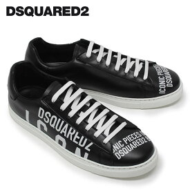 【2020SS】ディースクエアード ロゴプリント スニーカー【ブラック】SNM0005 01502648 M063/DSQUARED2/m-shoes