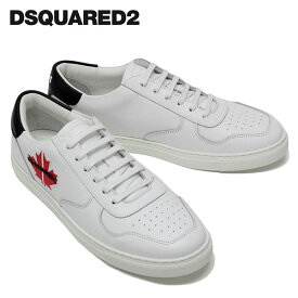 【2020SS】ディースクエアード メイプルリーフパッチ スニーカー【ホワイト】SNM0111 01500360 M072/DSQUARED2/m-shoes