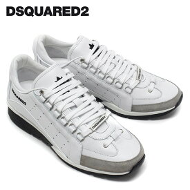 【2019-20AW】ディースクエアード レザースニーカー【ホワイト】SNM0404 065B0001 M1048/DSQUARED2/m-shoes