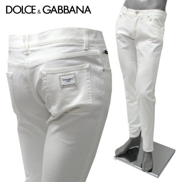 【スーパーサマーセール】【2018SS】ドルチェ&ガッバーナDENIM CLASSIC ストレッチ ジーンズ【ホワイト】GY07LD G8Y13 S9001/DOLCE&GABBANA/m-bottoms
