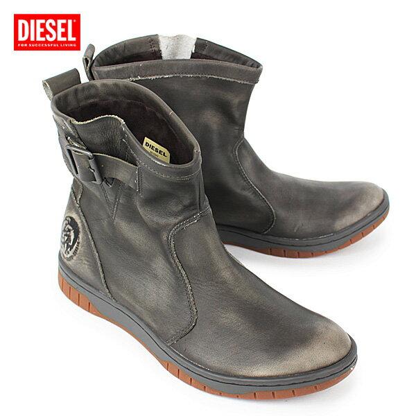 【送料無料】*ディーゼル『BIKERINO』レザーショートブーツ【BUNGEECORD】Y00261 PR080 T8031/DIESEL【m-shoes】