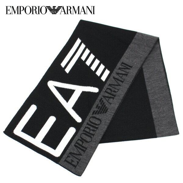 【スーパーセール】【2017-18AW】エンポリオ・アルマーニ『EA7』 ロゴマフラー【ブラック】275561 7A393 00020/EMPORIO ARMANI/goods