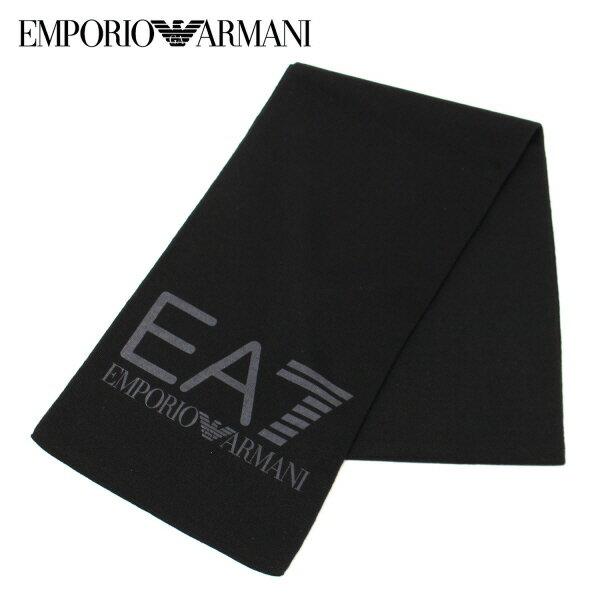 【2017-18AW】エンポリオ・アルマーニ『EA7』 ロゴマフラー【ブラック】275714 7A393 00020/EMPORIO ARMANI/goods