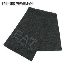 【2017-18AW】エンポリオ・アルマーニ『EA7』 ロゴマフラー【ダークグレーメランジ】275714 7A393 00349/EMPORIO ARMANI/goods