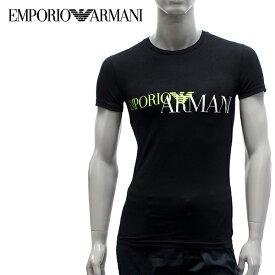【2019SS】エンポリオ・アルマーニ UNDERWEARライン ストレッチコットンTシャツ【ブラック】111035 9P516 00020/EMPORIO ARMANI/m-tops