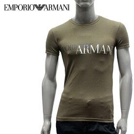 【2019SS】エンポリオ・アルマーニ UNDERWEARライン ストレッチコットンTシャツ【カーキ】111035 9P516 01981/EMPORIO ARMANI/m-tops