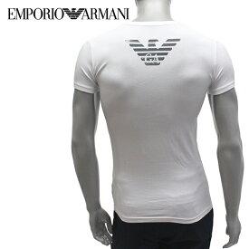 【2019SS】エンポリオ・アルマーニ UNDERWEARライン ストレッチコットンTシャツ【ホワイト】111035 9P745 00010/EMPORIO ARMANI/m-tops