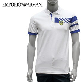 【2019SS】エンポリオ・アルマーニ EA7 ラバーワッペン7ライン ポロシャツ【ホワイト】3GPF68 PJ20Z 1100/EMPORIO ARMANI/m-tops