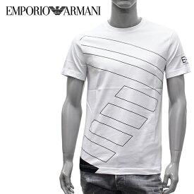 【2019SS】エンポリオ・アルマーニ EA7 BIG7プリント 半袖Tシャツ【ホワイト】3GPT19 PJV5Z 1100/EMPORIO ARMANI/m-tops