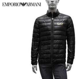【2019-20AW】エンポリオ・アルマーニ EA7 ライトダウン ジャケット【ブラック(×ゴールドEA7)】8NPB01 PN29Z 0208/EMPORIO ARMANI/m-outer