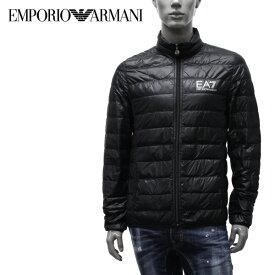【2019-20AW】エンポリオ・アルマーニ EA7 ライトダウン ジャケット【ブラック(×シルバーEA7)】8NPB01 PN29Z 1200/EMPORIO ARMANI/m-outer