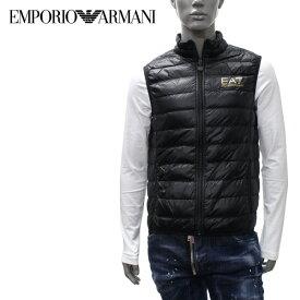 【2019-20AW】エンポリオ・アルマーニ EA7 ライトダウン ベスト【ブラック(×ゴールドEA7)】8NPQ01 PN29Z 0208/EMPORIO ARMANI/m-tops