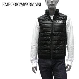 【2019-20AW】エンポリオ・アルマーニ EA7 ライトダウン ベスト【ブラック(×シルバーEA7)】8NPQ01 PN29Z 1200/EMPORIO ARMANI/m-tops