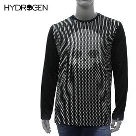 【2019SS】ハイドロゲン スカルスターズ 長袖Tシャツ【ブラック】240007 007/HYDROGEN/m-tops