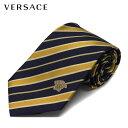 ヴェルサーチネクタイ necktie【ネイビー×イエローストライプ】CR8LSEB1168 B1168 0003/VERSACE/necktie