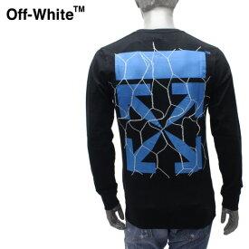 【2020SS】オフホワイト アロープリント 長袖Tシャツ【ブラック】OMAB001S20185002 1030/OFF-WHITE/m-tops