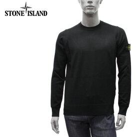 【2020-21AW】ストーンアイランド コンパス刺しゅうワッペン付き クルーネックセーター【V0029 BLACK】526C4 V0029/STONE ISLAND/m-tops