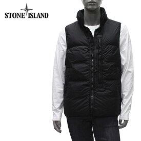 【2020-21AW】ストーンアイランド GARMENT DYED CRINKLE REPS NY DOWN ダウンベスト【V0029 BLACK】G0123 V0029/STONE ISLAND/m-tops