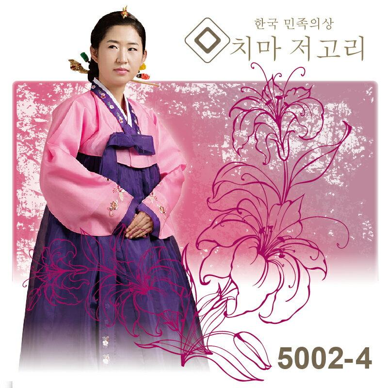 【送料無料】 韓国民族衣装 チマチョゴリ M・Lサイズ ピンク×紫 5002-4 P20Aug16●