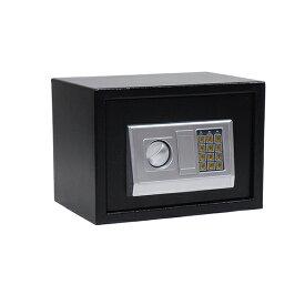 テンキー式電子金庫 暗証番号式金庫 鍵付き 35×25×25cm 小型 テンキー 最大8桁 金庫 防犯 保管 家庭用 コンパクト