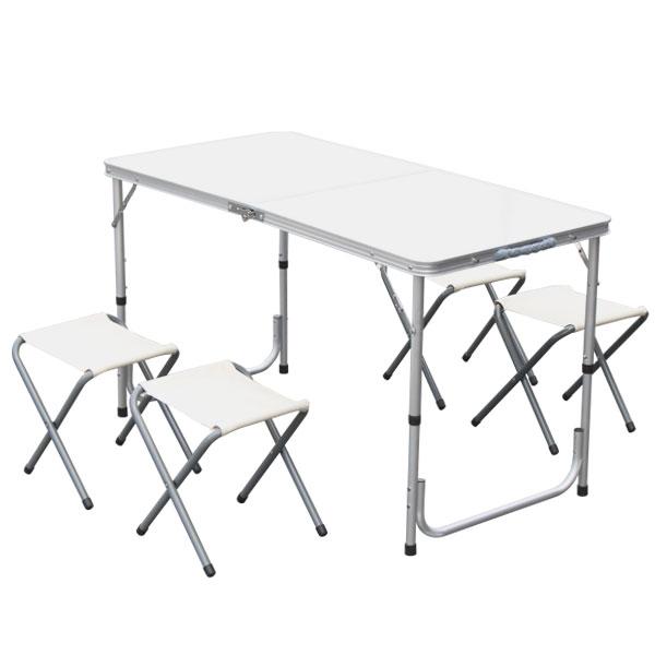 アウトドアテーブル アルミテーブル 折り畳みテーブル レジャーテーブル テーブル&チェアセット