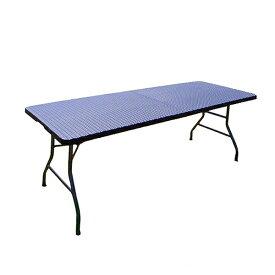 アウトドアテーブル ラタン調テーブル 屋外 パーティ バーベキュー BBQ ガーデン 水洗い 180×75×74 折り畳み式