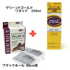【お買い得2点セット】 動物用医薬品 ニチドウ グリーンFゴールドリキッド 250ml + ひかりウエーブ ブラックホール